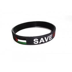 Free Palestine Save Gaza armbandje (zwart)