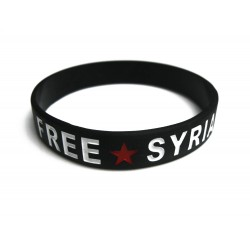 Free Syria armbandje (zwart)