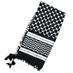 Zwarte Palestijnse Kufiya (Zwarte Arafatsjaal)
