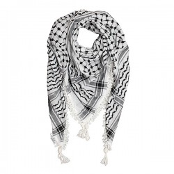 Palestijnse Zwart Wit Kufiya (Arafatsjaal)