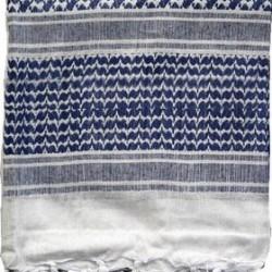 Navy blauw witte Arafatsjaal