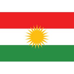 Koerdische vlag (Kurdistan) 90x150cm