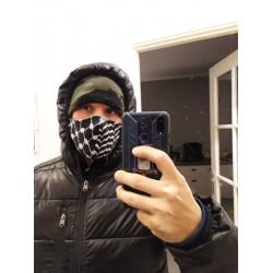 Kufiya mondmasker 50/50 zwart